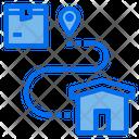 Destination Location Logistics Icon