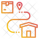Destination Location Logistics Icon