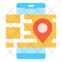 Delivery Map Tracking Icon