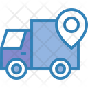 Delivery Truck Location Pin Icon