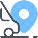 Minibus Logistics Door To Door Icon