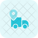 Delivery Location Location Truck Pin Icon