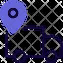 Delivery Location Location Truck Pin Icon