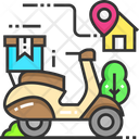 Delivery Location Delivery Bike Location Icon