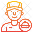 Delivery Man Delivery Food Icon