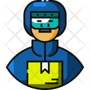 Courier Avatar Delivery Man Icon