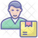 Delivery Man Pizza Boy Dispatcher Icon