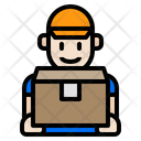 Man Delivery Package Icon