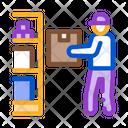 Man Restocking Cellar Icon