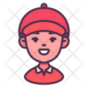 Delivery Courier Man Icon