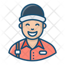 Delivery Man Pizza Boy Dispatcher Icon