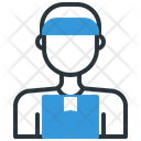 Delivery Man Package Icon