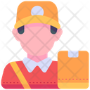 Courier Delivery Man Man Icon