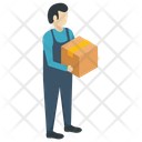 Delivery Man Logistics Delivery Freight Forwarder Icon