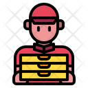Delivery Man Man Restaurant Icon