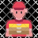 Delivery Man Man Restaurant Icon