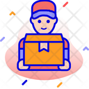 Delivery Man Boy Courier Icon