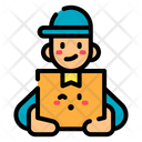 Delivery Man Courier Boy Delivery Icon