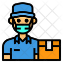 Delivery Man Postman Man Icon