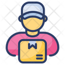 Delivery Men Worker Postman Icon