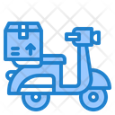 Delivery Motorcycle Icon
