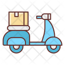 Delivery On Bike Delivery Bike Delivery Scooter Icon