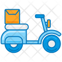 Delivery On Bike Icon