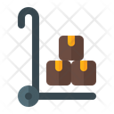 Delivery Packages Trolley Icon
