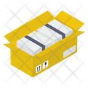 Delivery Packaging Open Cardboard Package Filling Icon