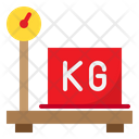 Delivery Parcel Weight Scale Parcel Weight Scale Weight Scale Icon