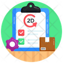Parcel Management Delivery Record Inventory List Icon
