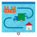 Delivery Map Plan Icon