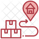 Map Pointer Package Delivery Postman Icon