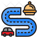 Delivery Food Road Icon