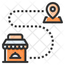 Delivery Route Icon