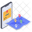 Delivery Route Tracker Icon