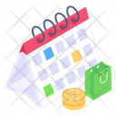 Shopping Schedule Delivery Schedule Shopping Reminder Icon