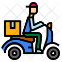 Courier Deliveryscooter Express Icon