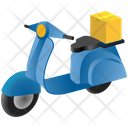 Logistics Delivery Scooter Icon