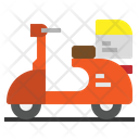 Food Delivery Motorcycle Icon