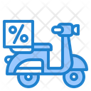 Delivery Scooter Motorcycle Delivery Icon