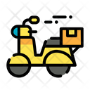 Delivery Scooter Scooter Delivery Icon