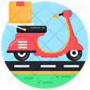Delivery Vehicle Delivery Scooter Delivery Motorcycle Icon