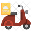 Delivery Scooter Delivery Bike Delivery Vehicle Icon