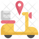 Delivery Scooter Location Icon