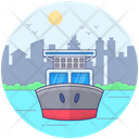 Delivery Ship Cruise Ship Water Cargo Icon