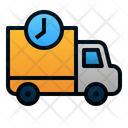 Truck Time Delivery Icon