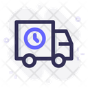 Delivery Shipping Clock Icon