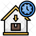 Time Tracking House Icon