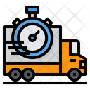Delivery Time Shipping Stopwatch Icon